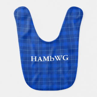 HAMbWG - Baby Bib - Blue Plaid