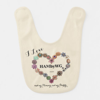 HAMbWG - Baby Bib -Jeweled Heart