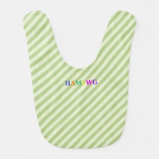 HAMbWG - Baby Bib - Lime Stripe