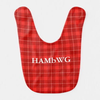 HAMbWG - Baby Bib - Red Plaid