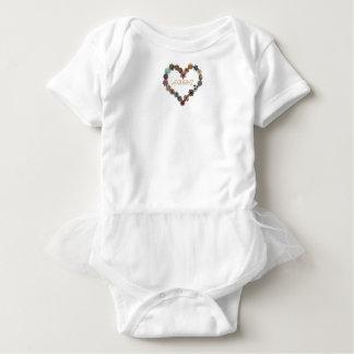 HAMbWG Baby Girl Tutu , T or Snap - Charming Heart Baby Bodysuit