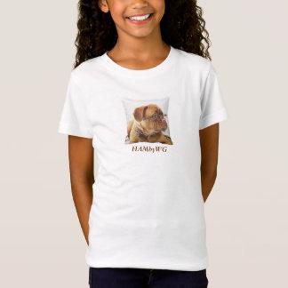 HAMbWG Bella Fitted Babydoll T - Bulldog T-Shirt