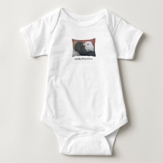 HAMbWG Black Sheep/White Sheep Baby Bodysuit