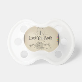 HAMbWG - BooginHead® Pacifier - I Love You Both