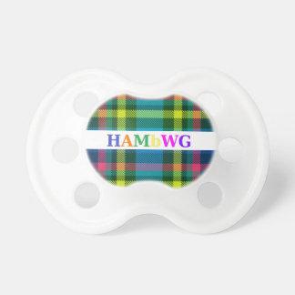 HAMbWG - Booginhead Pacifier - Pink Blue Tartan