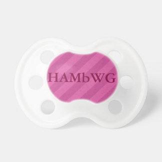 HAMbWG - BooginHead® Pacifier - Raspberry Stripe