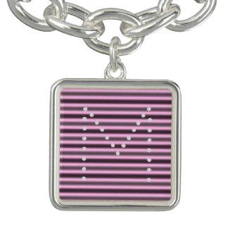 HAMbWG  - Charm Bracelet - Pink Neon