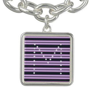 HAMbWG  - Charm Bracelet - Violet Neon