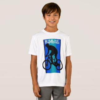 HAMbWG - Children's  T Shirt -  Blue Bike Rider