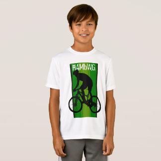 HAMbWG - Children's  T Shirt -  Green Bike Rider