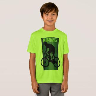 HAMbWG - Children's  T Shirt -  Lime  Bike Rider