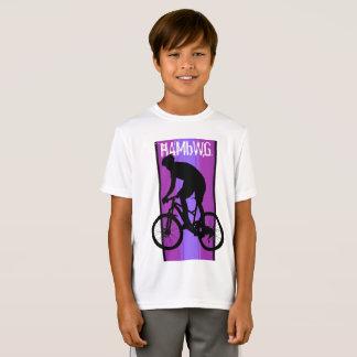 HAMbWG - Children's  T Shirt -  Purple Bike Rider
