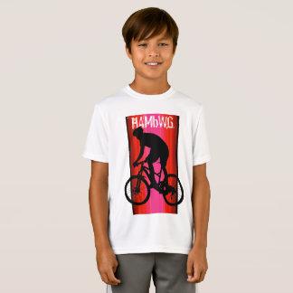 HAMbWG - Children's  T Shirt -  Red Bike Rider