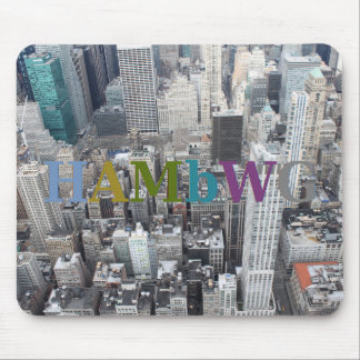 HAMbWG - City Scape - Gray Mouse Pad