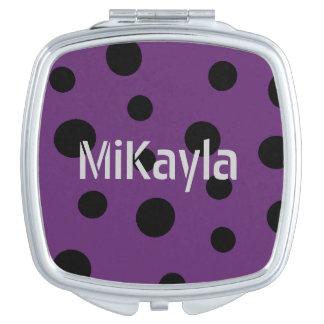 HAMbWG - Compact Mirror - Polka Dots - Any Color