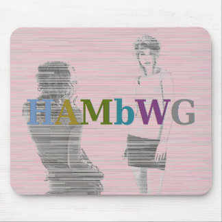 HAMbWG - Computer Mouse - Two Girls Mouse Pad