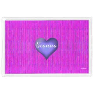 HAMbWG Custom Acrylic Tray  - Pink Violet Heart