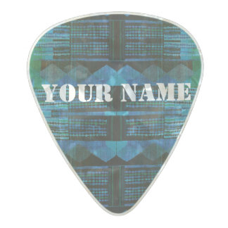 HAMbWG  Custom Guitar Pics - Blue Green Black Pearl Celluloid Guitar Pick