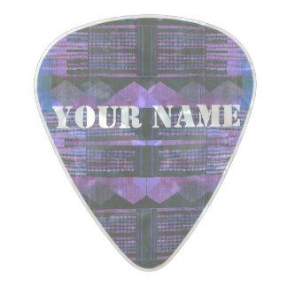HAMbWG  Custom Guitar Pics - Blue Purple Black Pearl Celluloid Guitar Pick