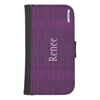HAMbWG Design  Phone Wallet Case - Amethyst Mix