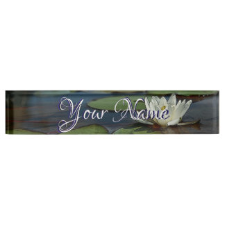 HAMbWG - Desk Name Plate - Water Lily
