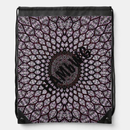 HAMbWG - Drawstring Bag - Indian Ink - Cherry