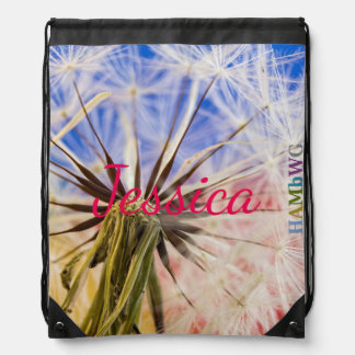 HAMbWG  Drawstring Bag - Wish Dandelion