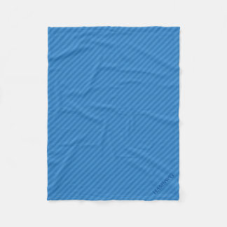 HAMbWG Fleece Blanket - Blue Stripe