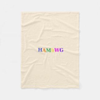 HAMbWG - Fleece Blanket -Creme  w Logo