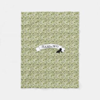 HAMbWG - Fleece Blanket - Green Camouflage