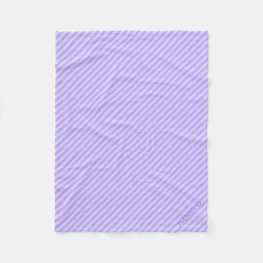 HAMbWG Fleece Blanket - Lilac Stripe