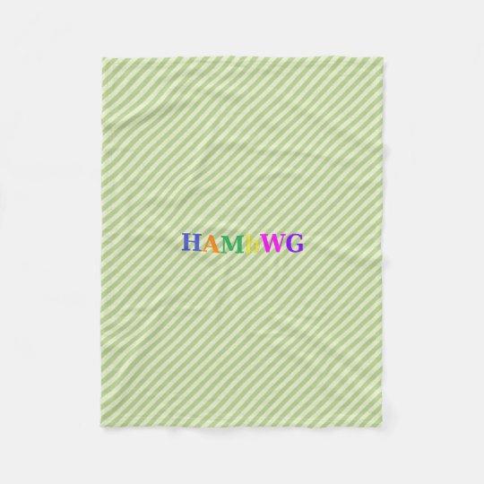HAMbWG Fleece Blanket - Lime Stripe