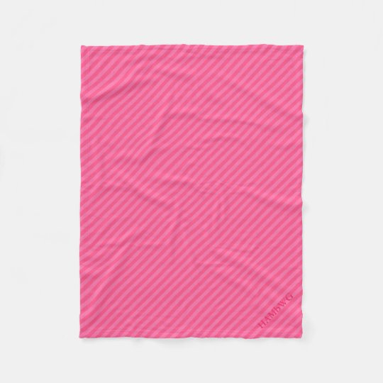 HAMbWG Fleece Blanket - Pink Stripe