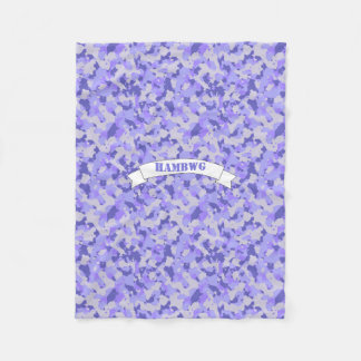 HAMbWG - Fleece Blanket - Purple Camouflage