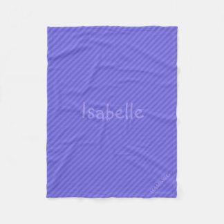 HAMbWG Fleece Blanket - Purple Stripe