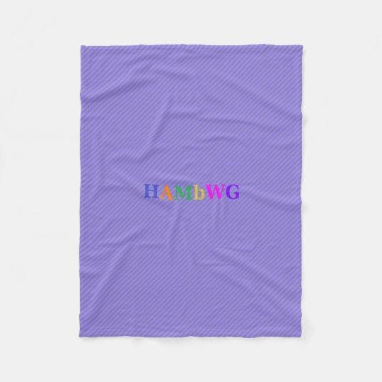 HAMbWG Fleece Blanket -Purple Stripe