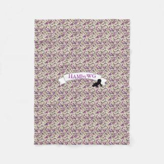 HAMbWG - Fleece Blanket - Violet Camouflage