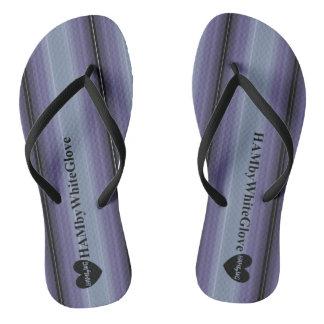 HAMbWG - Flip-Flop - Lilac Mist Wide Stripe w Logo Flip Flops