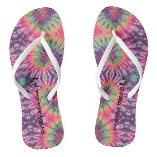 HAMbWG - Flip-flops Bright Plum Multi-color Dye Flip Flops