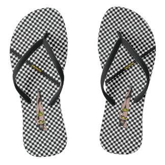 HAMbWG - Flip-flops - Racey Checkers Flip Flops
