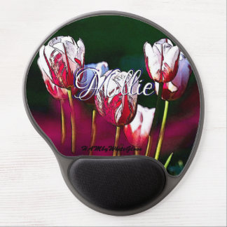HAMbWG - Gel Mouse Pad - Cherry & White Tulips