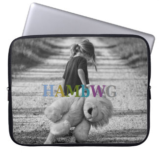 HAMbWG Girl with Teddy Bear - Neoprene  Sleeve Laptop Sleeves