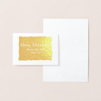 HAMbWG - Gold Foil Card - Baby Announcement