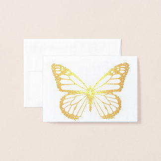 HAMbWG - Gold Foil Card - Butterfly Mini Note Card