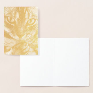 HAMbWG - Gold Foil Card - Cat