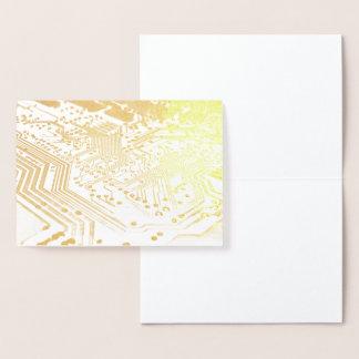 HAMbWG - Gold Foil Card - Computer Board