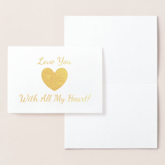 HAMbWG - Gold Foil Card - Gold Heart