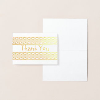 HAMbWG - Gold Foil Card - Heart Ribbon