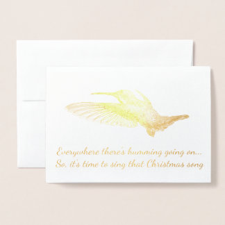 HAMbWG - Gold Foil Card - Humming Bird