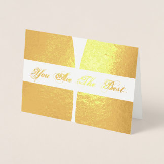 HAMbWG - Gold Foil Card - You Are The Best